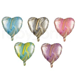 18 Inch Agate Five-pointed Star Balloon 18 Inch Heart-shaped Round Five-pointed Star Aluminum Foil Balloons Birthday Decoration Ball RRA3831