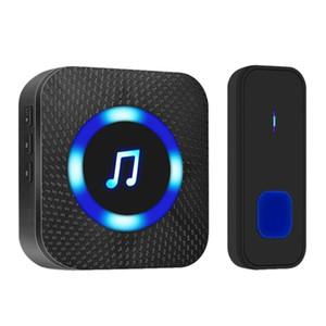 Wireless Electronic Waterproof Music Doorbell Home 300 Meters Long Distance Music Doorbell US Plug