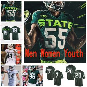 Stitched Custom 8 Kirk Cousins 80 Felton Davis III 89 Matt Dotson 96 Jacub Panasiuk Michigan State Spartans Men Women Youth Jersey