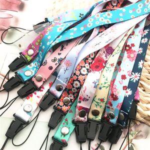 10pcs Lot Flower Lanyards For Keys Usb Phone Neck Strap Hang Rope Student Badge Holders Keychains Lanyard Mobile Phone Straps H jllPhe