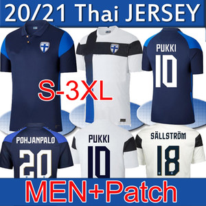 S-3XL 2020 2021 Finlandia National Team Soccer Jerseys Pukki Skrabby Raitala Jensen Suomi New Home White Away Blue Uomini Camicie da calcio Camicie Uniforme