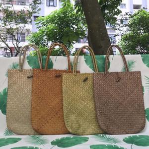 Handmade National Seaweed Portable Shoulder Bag Rattan Crossbody Bag Retro Summer Hollow Shoulder Bag Beach HandBags HHE3414