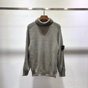 2021 Мода Новая Высококачественная шерстяная смесь вязаный водолазку Пуловер Thurtelneck свитер 011302
