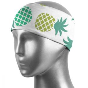 Quality Cotton Sweatband Sports Unisex Sweat Headband Runnning Basketball Yoga Hair Band Elastic Head Band Pineapple Q009