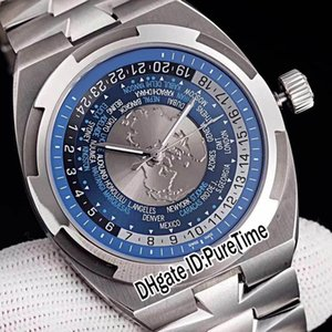 Best Edition Overseas World Time 7700V 110A-B172 Steel Case Silver White Gray Blue Dial Cal.5100 Automatic Mens Watch Watches Puretime E05a1