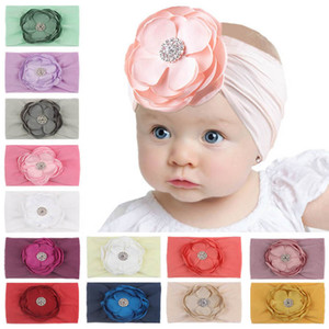 2020 new DIY Flower baby headbands nylon newborn headbands princess girls headband designer hair accessories kids head bands B3055