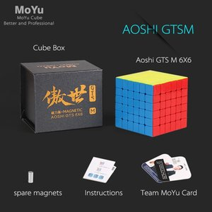 MOYU AOSHI GTS M 6x6x6 Магнитный GTSM Magic Speed Cube Puzzle Professional Magic GTS 6 M 3x3 Магнитные Образовательные игрушки для детей Y200428