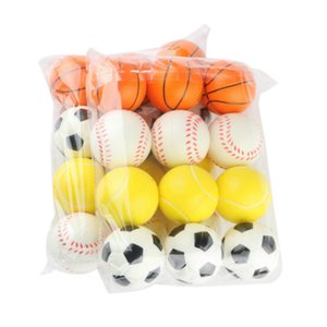 6.3cm Baby PU Toys Balls for Kids Basketball Baseball Tennis Football Soft Elastic Squeeze Stress Reliever Balls Child Sports Y1127