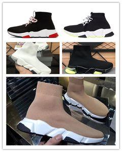 2020 Nouveaux Chaussettes Chaussures Stretch Vert Coussin d'air Absorption Absorption Chaussures de course Men's Lady Mid-top Formateur Chaussures Chaussures Taille 36-45