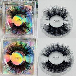 Pestañas 8D 25mm mink lashes long fluffy wispies fake eyelashes extension cruelty-free handmade lashes eyelash packaging wispy mink lashes