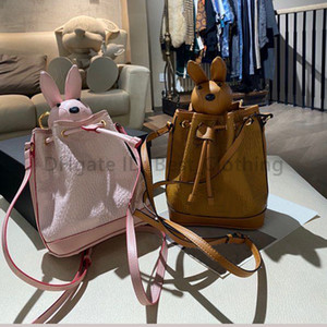 Backpack da menina desenhadores de moda Sacos Kawaii sacos Bucket Classic Letter Drawstring Bucket Causcal String Senhora Handbags
