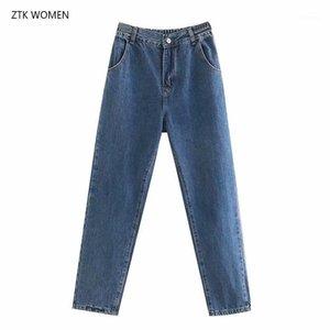 CFK Femmes Jeans 2019 Nouveau pantalon d'automne taille haute Casual Solid Straight Pants Casual Elegant Harem1