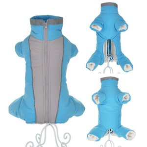 Winter Clothes For Small Dogs Warm Fleece Puppy Pet Coat Jacket Waterproof Reflective Dog Jumpsuits Chihuahua Clothing Overalls