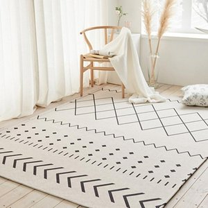Morocco pattern all geometric big size living room carpet , INS home decoration bedroom area rug