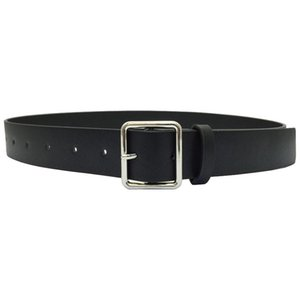 Black Leather Belt Female Simple Rectangle Casual Silver Pin Buckle Pants Students Decorate Universal Wide Belts For Jeans Gifts wmtlhf