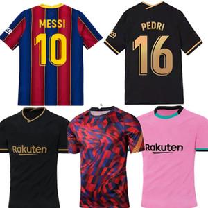 20-21 Versão do jogador Jersey Pedri F. de Jong Qualidade Tailandesa Casa e Away Ansu Fati Football Shirt