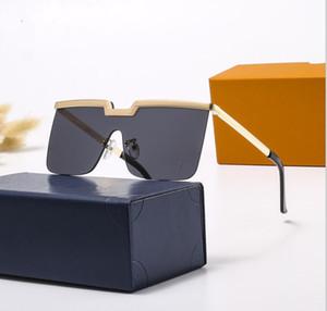 2020 Alta Qualidade Ao Ar Livre Óculos de Sol do Quadrado, Moda Feminina Masculina Esportes Metal Gold Sunglasses Frete Grátis