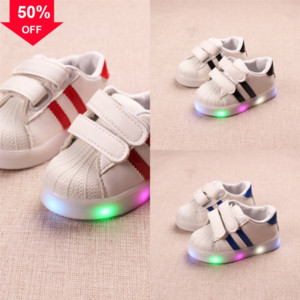 Größe aufgeladene Kinder Shoe LAS LED leuchtende Mädchen Körbe LED leuchtung für mit hell up Sohle Schuhe Kinder Jungen Hausschuhe LED Sneakers # 720
