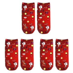 3 Pairs Set Colorful Christmas Sock Polyester Stocking Christmas Stocking Polyester Material 3d Printing Socks
