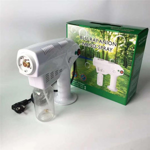 New High Tech Hand Held Electric Nano Disinfection Spray Gun Blue Ray Disinfectant Sterilizer Big Power Cleaning Tools Hand Sanitizer