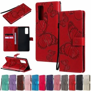 Butterfly Wallet Leather Case for iphone 12 Samsung S20 note20 A71 A51 A31 A21 A11 A01 Core m31s m51 luxury flip stand protective cover
