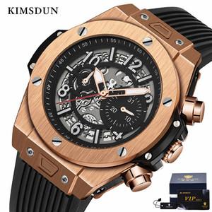 Kimsdun Fashion Militar Militar Menorería Trend Reloj Mecánico Mecánico Personalidad Silicona Strap Relogio Masculino Y1214
