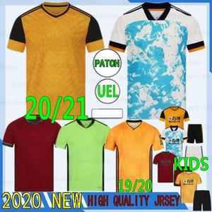 Thai 20/21 New Soccer Jersey J.Moutinho Raul Neves Podence Camicie da calcio Bambini Kit Casa Giallo Dendoncker Adama Wolves Uniform di calcio