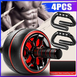Muscle Exercise Equipment Home Fitness Equipment Abdominal Power Wheel Ab Roller with Knee Mat Gym Roller Trainer Training1