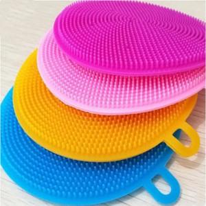 Силика-гель для мытья посуды Multi-Foince Magic Силиконовые блюдо Чаша Чистящие щетки Чистящие колодки PAD PAN PAN для мытья щеток oWa2446