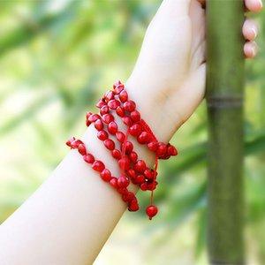 Moda Aksesuar Ulusal Tarzı Acacia Bean Benmingnian Bilezik Çin Kırmızı Severler Takı Kolye Aksesuarları