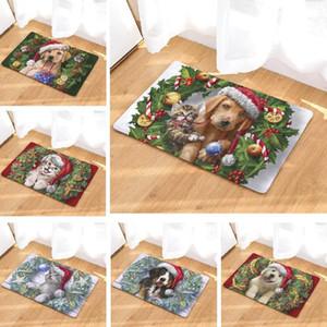 40 * 60cm Christmas Bath Mat Tapis Animaux Chien Pintée Tapis de salle de bains Tapis de salle de bain US Cuisine Mat 50x80cm Tapis de toilette Accueil Décoration DWC3832