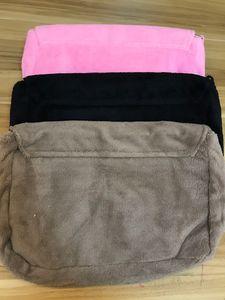 Fashion Soft Maquillage Sac Classic Winter 3 couleurs Sac à fourrure Fourrure Sac à bandoulière en flanelle Bonne qualité peluche de stockage en peluche