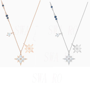 2020 Fashionable New Classic SYMBOLIC STAR Ladies Necklace Kite-Shaped Exquisite Day and Night Stars Girlfriend Birthday Gift