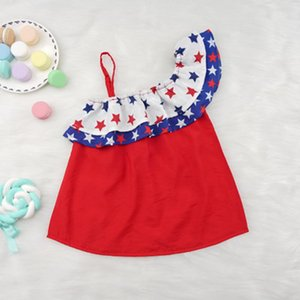2020 luxury design original single girl sling print dress baby girl clothes girl sling star skirt free shipping