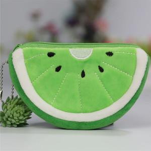 2021 Coin Purse Mini Plush Bags Cute Zipper Cash Pouch Small Fruit Wallets Key Chain for girls
