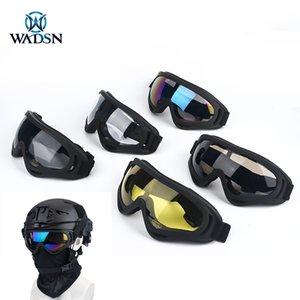 Wadsn Airsoft Segurança Anti-UV nevoeiro Óculos de caça CS Wargame Proteção Ultravioleta Óculos Óculos Óculos à prova de vento Fit Capacete Tático J1210