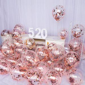 10 unids 12inch Látex Confeti globo First Feliz Cumpleaños Fiesta Decoración 1st Un Año Bebé Niños Adulto Niño Muchacha Niña Suministros de Boda