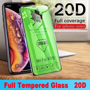 Original High Quality 20D Screen Protector For iPhone 12 Pro Max Mini Full Cover Protective Film 11 X XR Xs 9H Tempered Glass