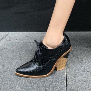 Женский клин обувь женщина насосы печать кожаные сексуальные высокие каблуки на шнуровке женские офисные дамы повседневные обнаженные одежды обувь насосы платформы