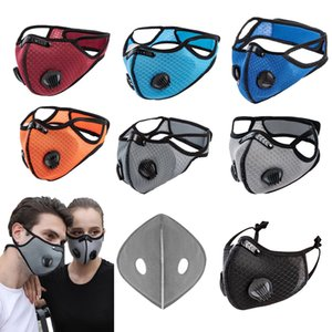 STOCK Designer Luxury Cycling Face Mask Activated Carbon with Filter PM2.5 Anti-Pollution Sport Running Training Protection Dust Mask