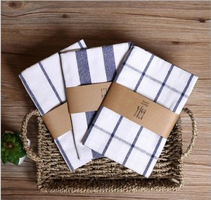 Napkin Cloth Japanese Yarn-dyed Fresh Pure Cotton Mat Table Mat Cloth Napkin Fashion Simple Hotel Pendant Photo Background