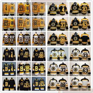 2021 레트로 보스턴 Bruins Hockey 88 David Pastrnak 4 Bobby Orr 33 Zdeno Chara 73 Charlie McAvoy 63 Brad Marchand 겨울 클래식 유니폼