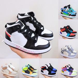 Nike Air Jordan Retro 1s High Mid Jumpman Kinder Trainer 1 Basketball-Schuh-Varsity Red Gebannt Chicago Twist Große kleine Jungen-Mädchen-Kinder Kleinkind im Freien Turnschuhe