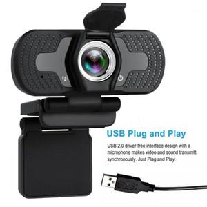 1080p Full HD USB Webcam para PC Desktop Laptop IP Câmera Web com microfone HD Consumer Camcorders New1