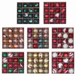 12 16 24Pcs Christmas Balls Decor Christmas Tree Hanging Ornament Xmas Decoration for Home Noel New Year navidad 2021