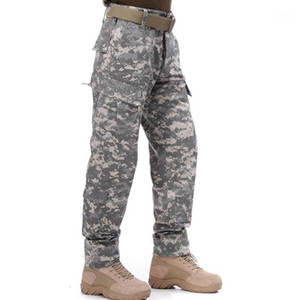 HOT US Army Mens mid-waist slim long trousers Tactics camouflage pants size S-XXL ACU FG AU Black1