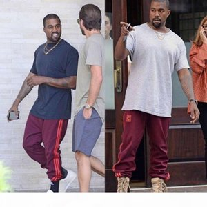 Kanye West Unisex Jogger Pants Red SEASON 4 Star Pants For Jogging Exercise and Fitness For Man Woman High Quality Casual Pants