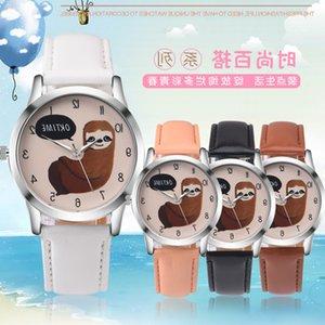 Заводская цена 100 шт. Совершенно новый oktime Sloth Кожаные часы для модных часов для женских женщин Женские наручные часы