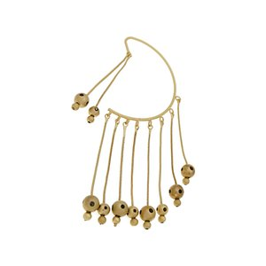 Chain Beads Ear Hanging Metal Ball Exaggerated Tassel Long Earrings Earrings Jewelry Female J190630