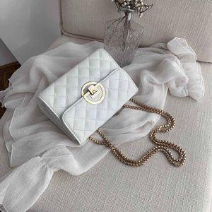 HBP Classic fashion three-dimensional embossed womens letter handbag fashion clamshell golden lock diagonal bag with box